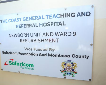 Handover of an Equipped New Born Unit at Coast General Hospital in Mombasa County